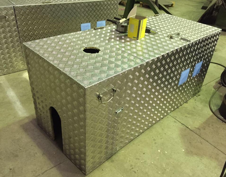 Fabricación cajones aluminio