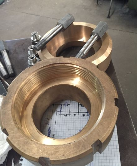Torno mecanizado de piezas inoxidable, bronce, aluminio
